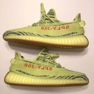 Adidas Yeezy 350 v2 Semi Frozen Yellow Size 10.5